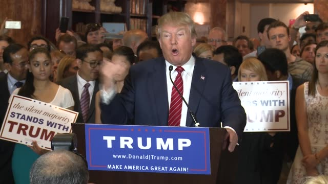 trump presser gop pledge - candidate stock videos & royalty-free footage
