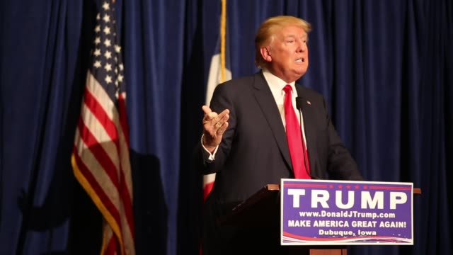 trump rally in iowa - us republican party 2016 presidential candidate stock videos & royalty-free footage