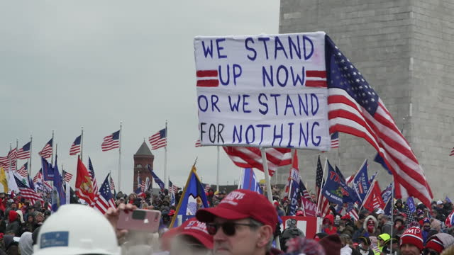 trump supporters at political rally outside the white house, as congress certifies joe biden's victory in the presidential election, on the 6th... - president stock videos & royalty-free footage