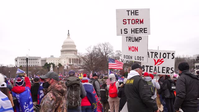 trump supporters clash with police and security forces as they storm the us capitol in washington, dc on january 6, 2021. - donald trump's supporters... - confrontation stock videos & royalty-free footage