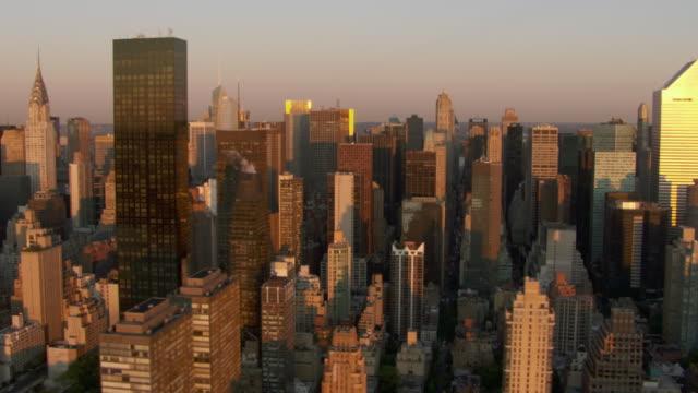 Trump World Tower dominates the Manhattan skyline near the Chrysler Building.