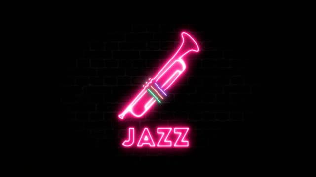 トランペットとジャズ - ジャズ点の映像素材/bロール