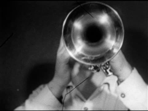 trumpet bell with mr. walters playing 'one horse open sleigh' , three teens playing same trumpets, high school band playing instruments . midwestern,... - school bell stock videos & royalty-free footage