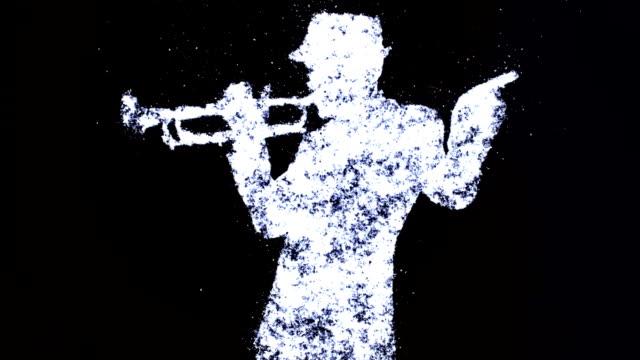 vídeos y material grabado en eventos de stock de trompeta jugador - animación de mecanismo de paro