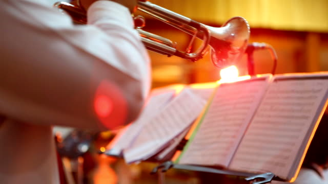 trumpet players - brass band stock videos & royalty-free footage