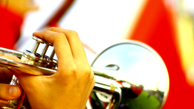 trumpet - marching stock videos & royalty-free footage