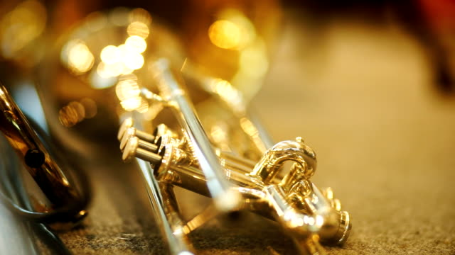 trumpet - brass instrument stock videos & royalty-free footage