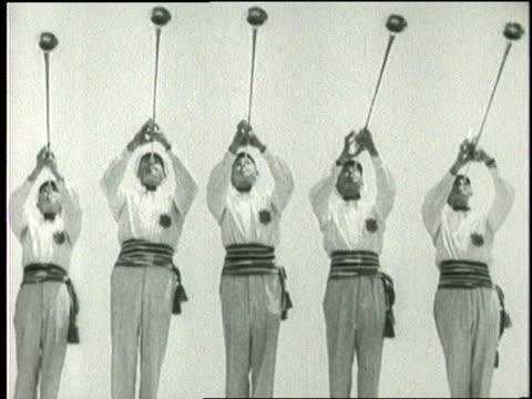 trumpeters blow a fanfare at the 1932 olympics - 1932 stock videos & royalty-free footage