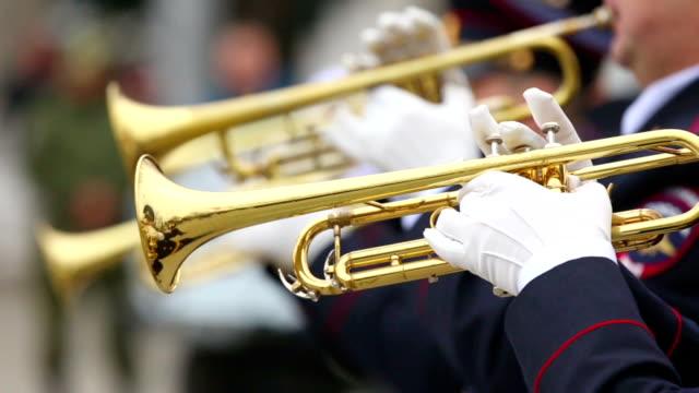trumpetare militärmusikkår