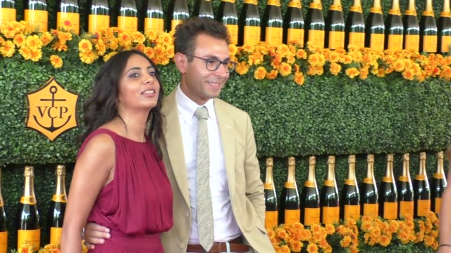 Trupty Patel and Michael Irilli at the sixth annual Veuve Clicquot Polo Classic at Will Rogers Historic State Park in Pacific Palisades at Celebrity...