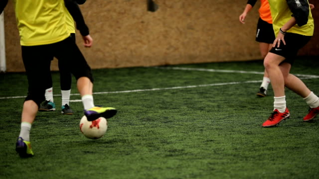 try to take the ball - indoor soccer stock videos & royalty-free footage