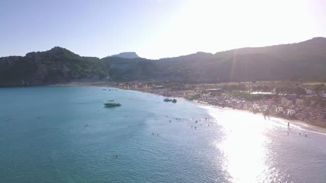 tsambika beach - rhodes dodecanese islands stock videos & royalty-free footage