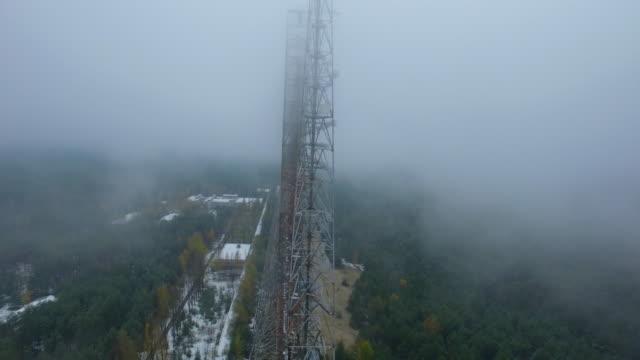 """stockvideo's en b-roll-footage met tschernobyl antennenarray duga-3 """"woodpecker"""" - kernramp van tsjernobyl"""