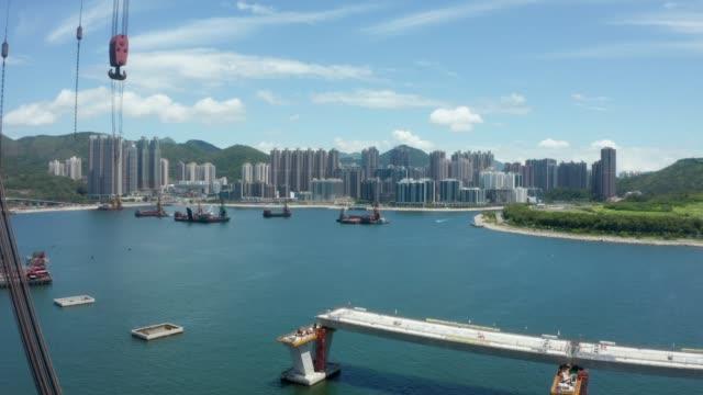 tseung kwan o - lam tin tunnel project in hong kong - pipe stock videos & royalty-free footage