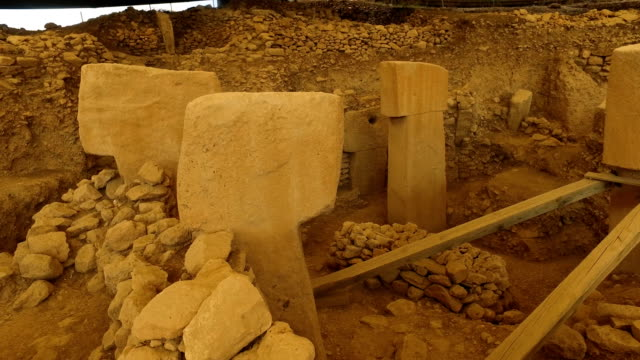 TShaped pillars are seen at the Gobekli Tepe archaeology site on September 18 2018 in Sanliurfa Turkey Since it's discovery The 'Gobekli Tepe' site...