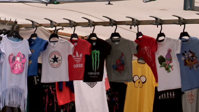 t-shirts on sale - t shirt stock videos & royalty-free footage