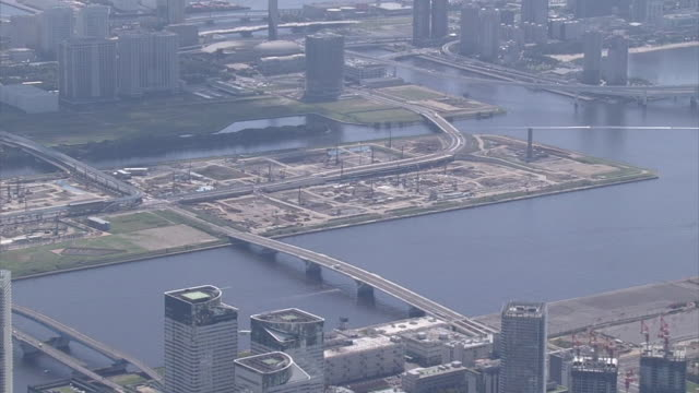 AERIAL, Tsukiji Fish Market And Planned Relocation Site Toyosu, Tokyo