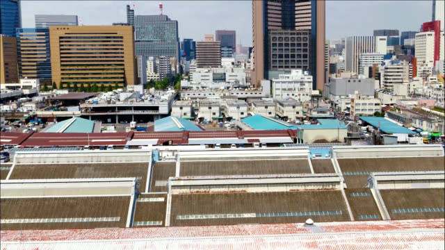 Tsukiji Fish Market is seen on August 13 2018 in Tokyo Japan Famous Tsukiji market will be closed as it is replaced by new market in Toyosu area The...