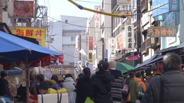 tsukiji fish market - short phrase stock videos & royalty-free footage