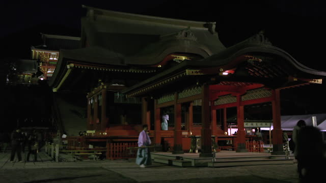 tsurugaoka hachimangū is the most important shinto shrine in the city of kamakura kanagawa prefecture japan the shrine is at the geographical and... - shinto stock videos & royalty-free footage
