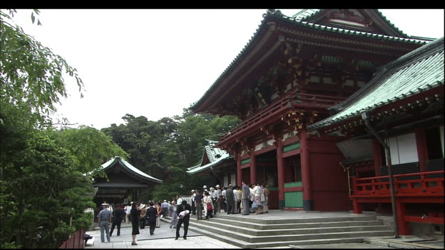 tsurugaoka hachimangu shrine. - shrine stock videos & royalty-free footage