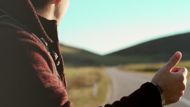 Ttourist hitchhiking