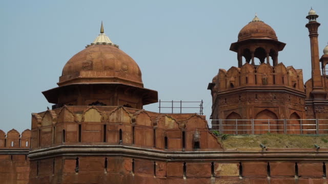 tturret towers a the red fort. - mughal empire stock videos and b-roll footage