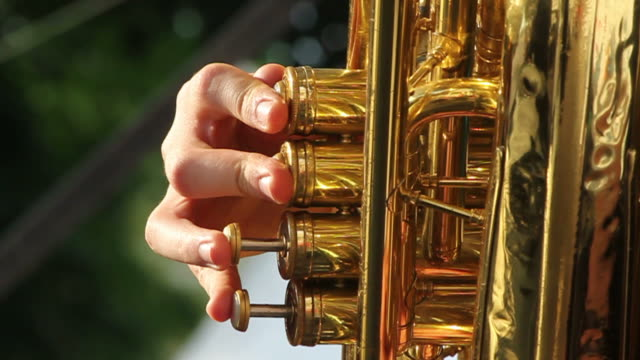 tuba playing - wind instrument stock videos & royalty-free footage