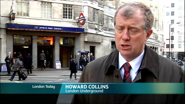 tube delays due to late running engineering works ext howard collins interview sot - itv london lunchtime news stock-videos und b-roll-filmmaterial