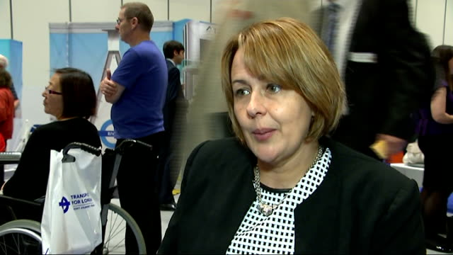 tube stations to become more accessible to disabled people baroness greythompson interview sot ext fielding along platform at dlr station fielding... - baroness stock videos & royalty-free footage