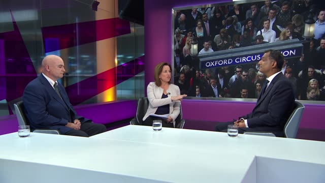 tube strike over nighttime service / government plans to stop automatic union dues england lodo gir int syed kamall mep and mick lynch live studio... - ジャッキー ロング点の映像素材/bロール
