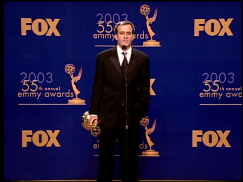 tucker cawley at the 2003 emmy awards press room at the shrine auditorium in los angeles, california on september 21, 2003. - shrine auditorium 個影片檔及 b 捲影像