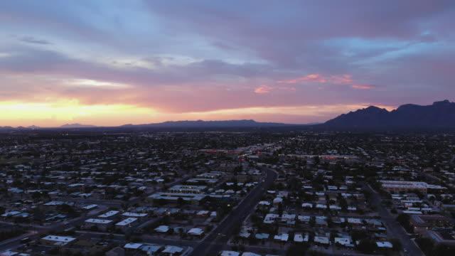 tucson sunset - arizona stock videos & royalty-free footage