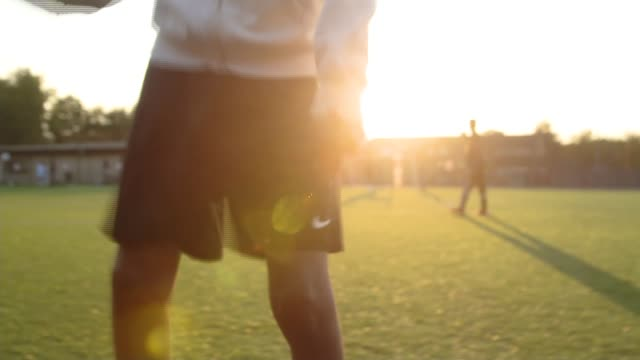 Tuff FC set up in the fight against extremism ENGLAND London Southall EXT Anonymous boy doing keepy uppy with football Anonymous boys training **Khan...