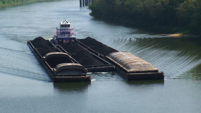 Tug Boat and Barges
