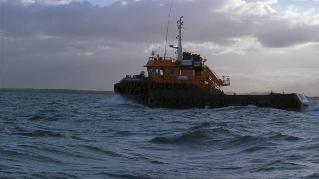 pov tugboat in sea - tug boat stock videos & royalty-free footage