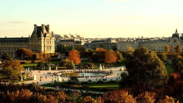jardin des tuileries - louvre stock videos and b-roll footage