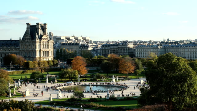 tuileries in paris - louvre stock videos and b-roll footage