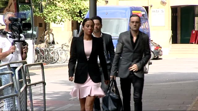 undercover reporter tells court he wanted to 'expose criminality' england london southwark crown court ext tulisa contostavlos arriving at court - pink singer stock videos and b-roll footage