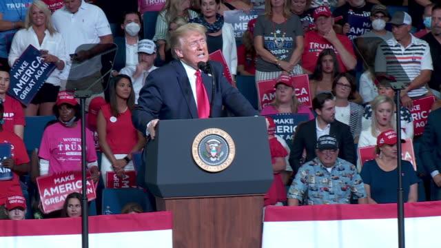 tulsa, ok, u.s. - president donald trump speaks at rally at the bok center in tulsa, ok on saturday, june 20, 2020. on saturday, president trump held... - political rally stock videos & royalty-free footage