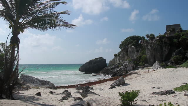 tulum beach - quintana roo stock videos and b-roll footage
