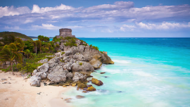 time lapse: tulum mexico - mayan stock videos & royalty-free footage