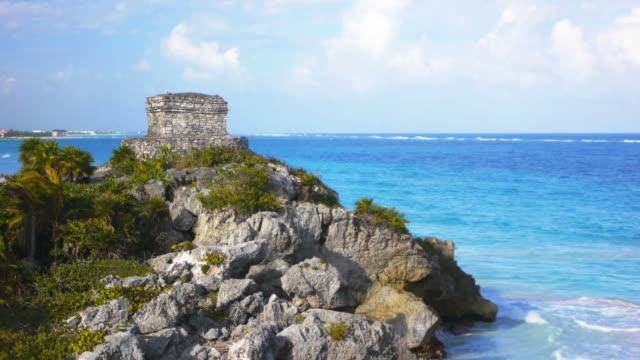tulum ruins, mexico - tulum mexico stock videos & royalty-free footage