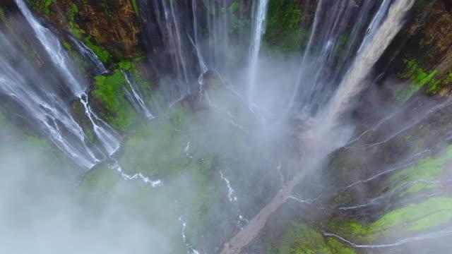 tumpak sewu waterfalls - rainforest stock videos & royalty-free footage