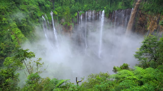 tumpak sewu waterfalls - indonesia stock videos & royalty-free footage