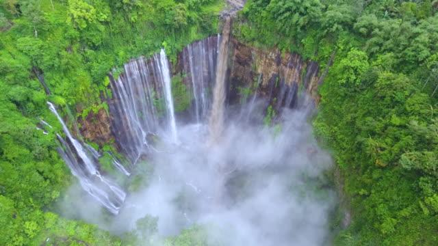 tumpak sewu waterfalls - indonesia landscape stock videos & royalty-free footage