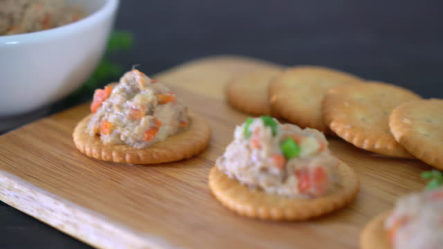 tuna cracker - tuna seafood stock videos and b-roll footage