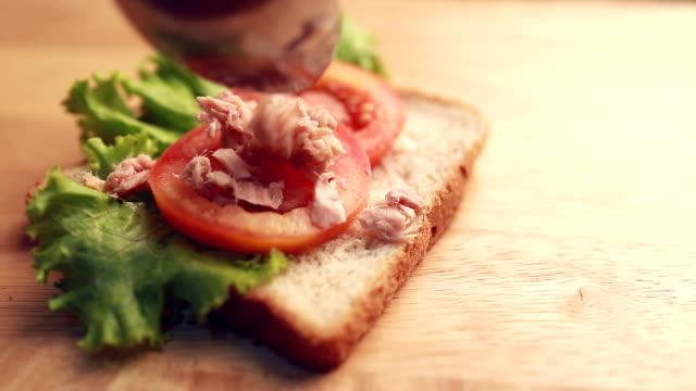 tuna sandwich - sandwich stock videos & royalty-free footage
