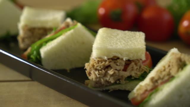 tuna sandwich - tuna seafood stock videos and b-roll footage