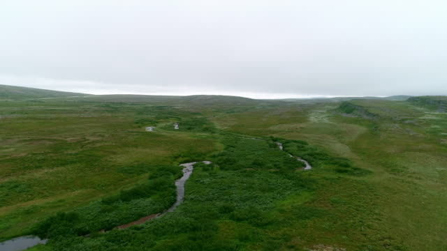 tundra mountain aerial landscape - scandinavian culture stock videos and b-roll footage